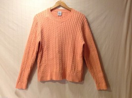Womens Barclay Square Peach Colored Knit Sweater, Size XL