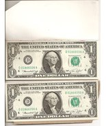 1974 One Dollar Bills 25 Uncirculated #'d Sequence (#1) - $99.95