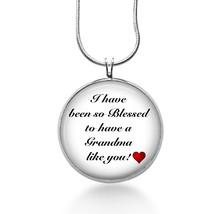 Grandma Necklace - blessed to have you - Gigi - Mimi - Handmade - Grandmother - $18.32