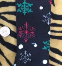 Funky Glitter BLACK SNOWFLAKES KNEE SOCKS Lolita Holiday Elf Christmas S... - $4.92