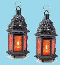 "Amber Moroccan Wedding Candle Lantern 10 1/4"" (Set of Two) Event Supplie... - $26.00"