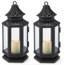 """Black Wedding Candle Lantern 8"""" tall (Set of Four) Outdoor Event Supplie... - $39.00"""