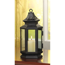 "Black Wedding Candle Lantern 8"" tall Wedding Supplies 13361 - $20.00"