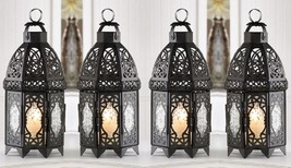 "Black Wedding Lattice Candle Lantern 12"" tall (Set of Four) Event Supply... - $46.00"
