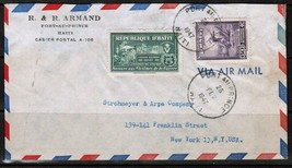 HAITI Scott # C 38, RA 5 on AIRMAIL COVER to N.Y. USA---(Feb. 26 1947) (... - $6.88