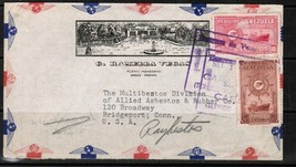 VENEZUELA Scott # 415, C 256 ILLUSTRATED AIRMAIL ADVERTISING COVER (OS-161) - $7.92
