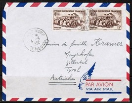 FR. W. AFRICA---SENEGAL Scott # 52( 2) on 1952 AIRMAIL COVER to Tyrol  (... - $3.91