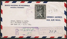 NICARAGUA Scott # C 247 REGISTERED & CERTIFIED COVER to N.Y. USA-1945 (O... - $7.87