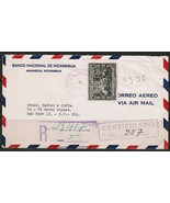 NICARAGUA Scott # C 247 REGISTERED & CERTIFIED COVER to N.Y. USA-1945 (O... - $150,14 MXN
