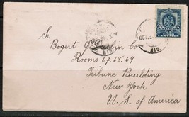 MEXICO Scott # 297 on COVER to N.Y. USA---(Oct. 6 1901) (OS-169) - $4.90