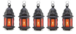 "Sunset Orange Wedding Candle Lantern 10 1/4"" (Set of Five) Event Supplie... - $45.00"