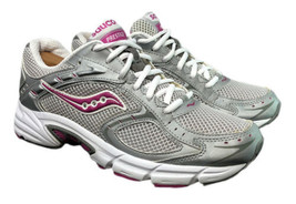 Saucony Prestige White Silver Pink Running Gym Shoes 15050-3 Womens Size... - $44.10
