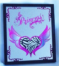Princess Mirror Sign with Heart & Wings perfect... - $18.95