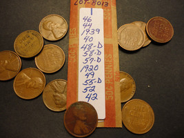 WHEAT CENT LOT B013  >>>>> SEE PICTURE FOR DATES - $1.24