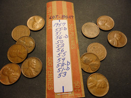 WHEAT CENT LOT B027  >>>>> SEE PICTURE FOR DATES - $0.99