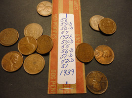 WHEAT CENT LOT B030  >>>>> SEE PICTURE FOR DATES - $1.24