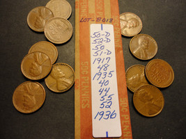 WHEAT CENT LOT B018  >>>>> SEE PICTURE FOR DATES - $1.24