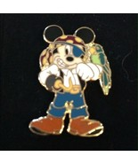 WDW Disney Pirates of the Caribbean Pirate Mickey Mouse with Parrot Pin - $10.99