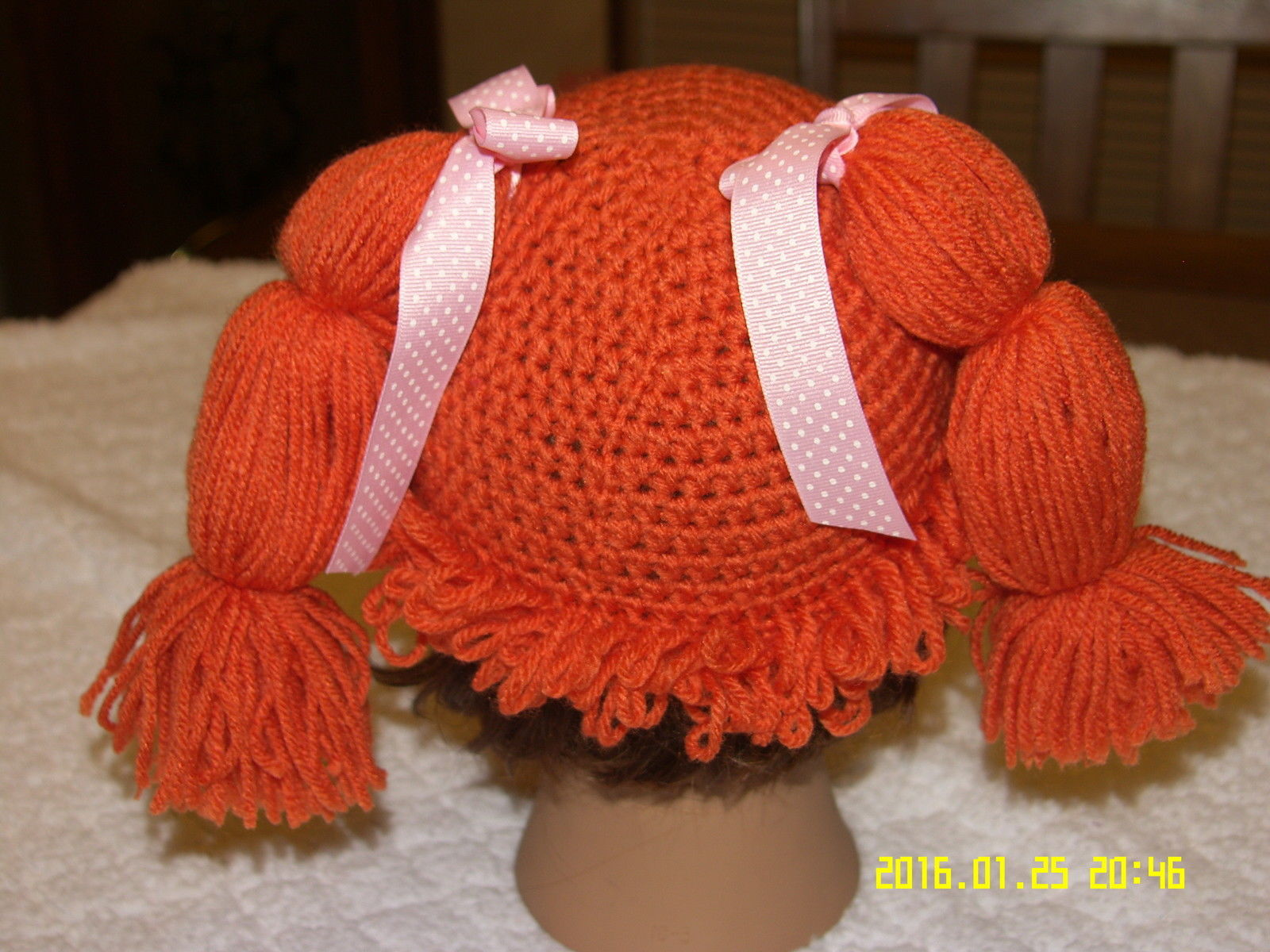 cabbage patch hat with pigtails free pattern cabbage patch