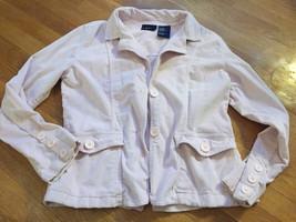 Bill Blass PINK Soft Velour Button Blazer Jacket Sz M 10 12 14 - $7.69