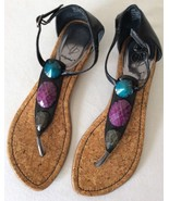 Baby Phat Women's Thong Strap Sandals Gem Stone... - $13.99