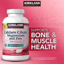 Kirkland Signature Calcium Citrate 500 mg 500 Tablets CHEAP - $24.99