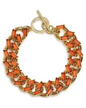Carolee Gold Tone chain and stone bracelet  - $39.99