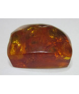 Amber Baltic Orange Polished Top Sides to see colors 68.6ct 13.7gr - $45.55
