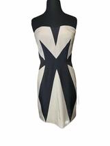 Aryn K Strapless Color Block Mini Dress Black & Taupe M - $40.00
