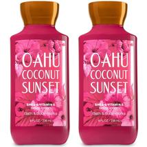 Bath & Body Works Oahu Coconut Sunset Body Lotion 8 fl oz Set Of 2 Bottles - $17.88