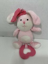 Carter's Child of Mine small bunny rabbit pink bow hanging crib toy plus... - $9.89