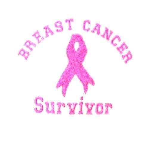Breast Cancer Survivor T Shirt M Pink Ribbon Awareness White Long Sleeve New