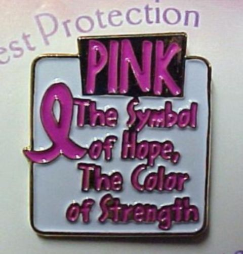 Breast Cancer Symbol Of Hope Color of Strength Gold Plated Lapel Pin Tac New