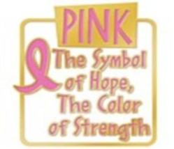 Breast Cancer Symbol Of Hope Color of Strength Gold Plated Lapel Pin Tac New image 2