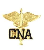 CNA CaduceusLapel Pin Medical Emblem Graduation Prestige Gold Plated 107... - $13.69