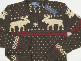 NEW! Polo Ralph Lauren Sweater!  *Very Slim Fit*   *Winter Reindeer Design* - $99.99