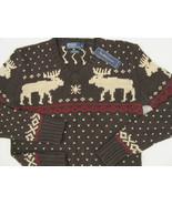 NEW! Polo Ralph Lauren Sweater!  *Very Slim Fit*   *Winter Reindeer Design* - $99.99