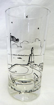 Jane Boggs Fort McHenry Baltimore MD Maryland Clear Tall Glass Vintage - $24.47