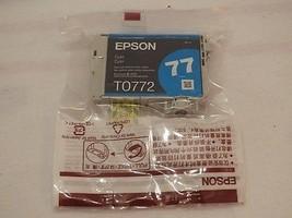 Epson 77 Cyan Inkjet Cartridge T0772 New OEM Single Unit - $10.65