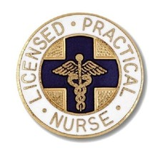 LPN Lapel Pin Blue Cross Caduceus Emblem Graduation Licensed Practical N... - $13.55