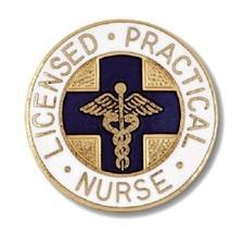 LPN Lapel Pin Blue Cross Caduceus Emblem Graduation Licensed Practical Nurse New - $13.55