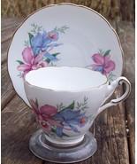 Jackson & Gosling Ltd. Grosvenor Orchids Tea Cup & Saucer Set Superb Con... - $18.50
