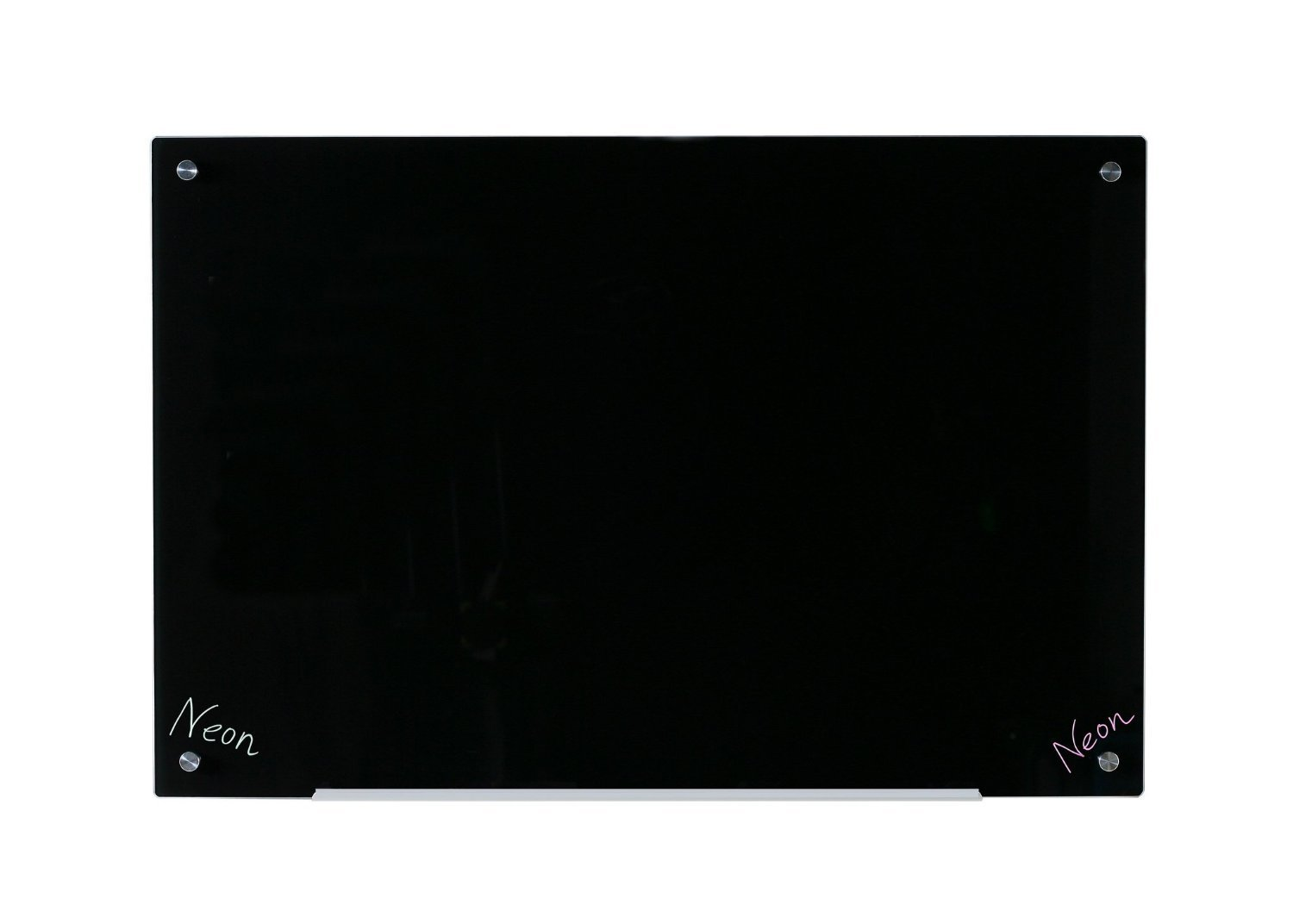 "35 ½"" x 47 ¼"" Black Tempered Glass Dry Erase Blackboard - 90x120 cm"