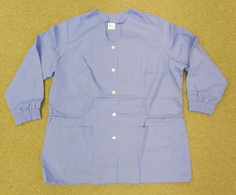 Premier Uniforms #9399 V Neck Ceil Blue 4XL Medical Dental Scrub Top Jac... - $21.75