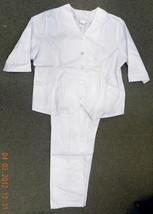 Premier White V Neck 22H Nurse Uniform Scrub Top Pants Set 5572H New - $24.72