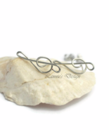Sterling Silver Treble Clef Stud Earrings - $20.90