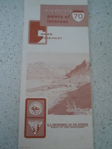 Interstate 70 Points of Interest Moab Utah Travel Brochure 1977 - $4.99