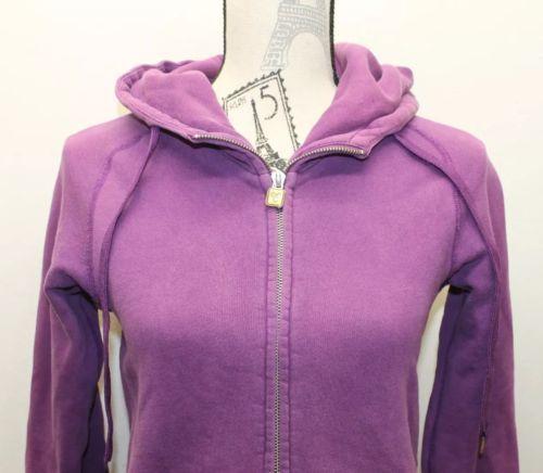 Original TNA Women Hoodie Violet Sz XS Zipper Cotton Blend