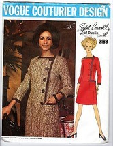 Vtg 60s Vogue Couturier Design Pattern #2183 Sybil Connolly Dublin Uncut... - $29.21