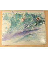 New Lynn Ann Buettner Art Beach Print of Two Surfers Small on Foam Board - $19.00
